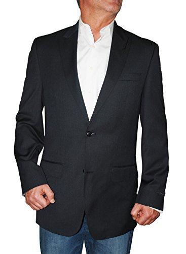 (Sean John Mens Diamond Texture Two Button Sportcoat Black)