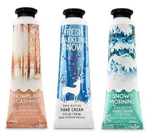 Bath and Body Works Winter Fragrances 3 Pack Hand Cream 1 Oz
