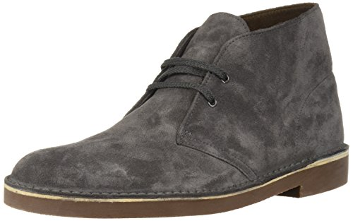 Clarks Suede Boots - CLARKS Men's Bushacre 2 Chukka Boot, Greystone Suede, 9 Medium US