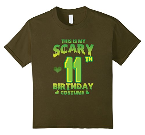 Cool 11 Year Old Boy Halloween Costumes (Kids Halloween Costume For 11 Years Old. 11th Birthday Shirt. 10 Olive)