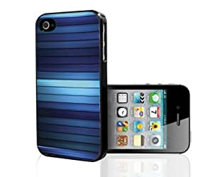 Colorful Blue Hue Stripes Hard Snap on Phone Case (iPhone 4/4s)