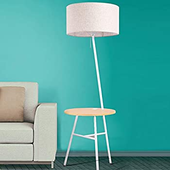 Wellmet Contemporary Combination End Table Floor Lamp