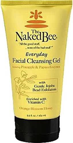 The Naked Bee Everyday Facial Cleansing Gel, Orange Blossom Honey, 5.5 Ounce