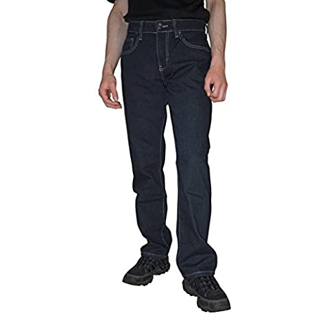 Big Joe Men's Regular Straight Leg Fit Jeans Pants, With A Beautiful Fashion Designer Back Pocket Embroidery, (32Wx32L, - Denim Pinstripe Cap