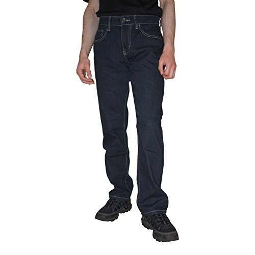 Big Joe Men's Regular Straight Leg Fit Jeans Pants, With A Beautiful Fashion Designer Back Pocket Embroidery, (32Wx30L, (Denim Pinstripe Cap)
