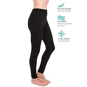Homma Premium Ultra Soft High Rise Waist Full Length Regular and Plus Size Leggings (XL/2XL, Black)