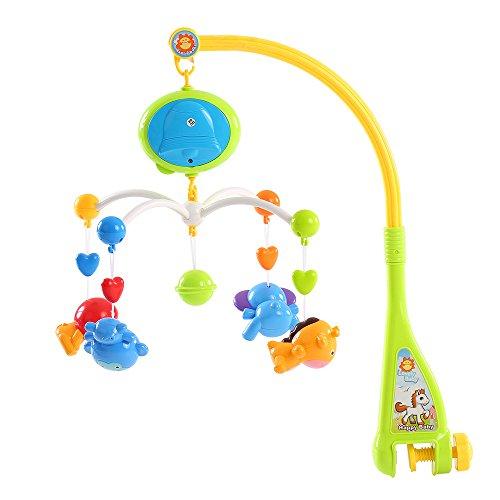 Goolsky Baby Bett Bell Musik-Mobile Krippe ein Dreamful Bett Ring hängend Drehen Klingelrassel Intelligenz pädagogisches Spielzeug