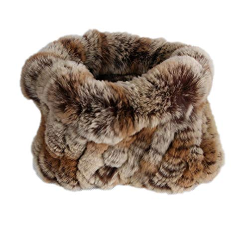 Fur Rabbit Rex Headband - Women Real Fur Handmade Stretch Fur Scarf Knit Genuine Rex Rabbit Fur Headbands Girls Natural Fur Ring Scarves Winter camel1