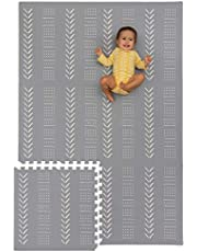 Foam Baby Play Mat Tiles - Soft, Thick, Non-Toxic Foam Covers 6 ft x 4 ft. Expandable Tiles with Edges Infant and Toddler Puzzle playmat