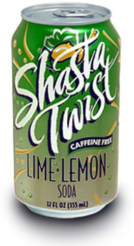 SHASTA Lime Lemon Twist Soda, 12-Ounce Cans (Pack of 24)