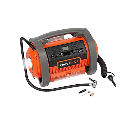 superbe ensembleMADE IN BELGIUM DUAL POWER tr/ès puissante perceuse visseuse 20V POWERPLUS compresseur max 11 bar