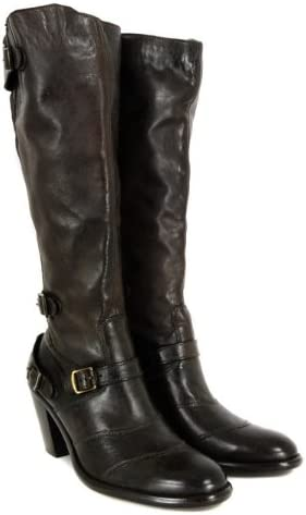 Punto de exclamación Comunismo retirada  Belstaff Trialmaster Heel High Black Brown Boots 5: Amazon.co.uk: Shoes &  Bags
