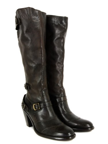 1bd672abc74 Belstaff Trialmaster Heel High Black Brown Boots 7: Amazon.co.uk ...