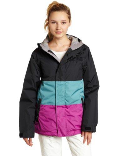 Betty Rides Women's Lucky Plaid Trinity Parka Snowboard/Ski Jacket (Multi Black, Small)