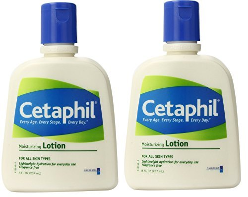Cetaphil Moisturizing Lotion for All Skin, Fragrance Free, 8 Oz (Pack of 2) - Galderma Fragrance Free Moisturizer