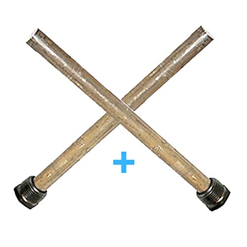 Magnesium RV Water Heater Anode Rod - Fit Suburban and Mor-Flo - 9.25'' Long & 3/4'' NPT Thread (2 Pack)