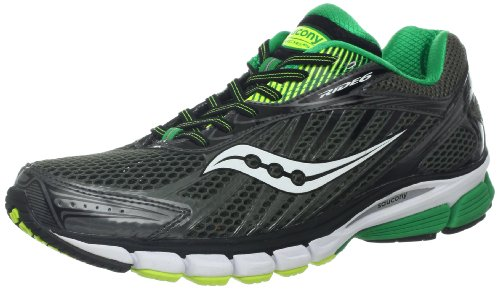 (Saucony Men's Ride 6 Running Shoe,Grey/Green/Citron,10.5 M US)