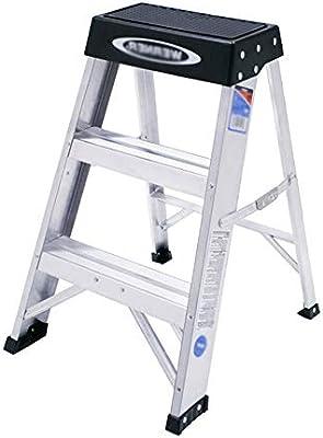 MILAYA JI Bin Shop® Escalera, Taburete De Aluminio De 3 Peldaños, Escalera De Ahorro para El Hogar, Plegable +: Amazon.es: Hogar