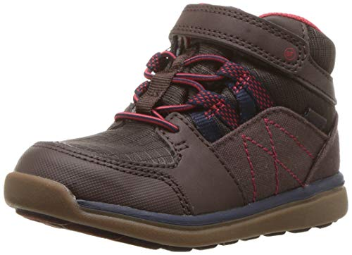 Stride Rite Boys' MT M2P-Indigo Ankle Boot, Brown, 4 W US Toddler