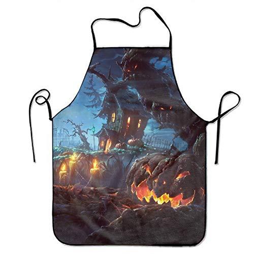 Jerry Warner Spooky Halloween Adjustable Apron for Kitchen Garden Cooking Grilling Women's Men's Great Gift for Wife Ladies Men Boyfriend