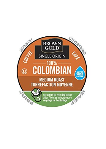 Brown Gold, 100% Colombian Coffee, 48 Single Serve - Gold Brown And