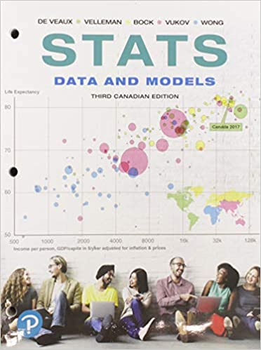 3rd Edition Data and Models Stats Third Canadian Edition