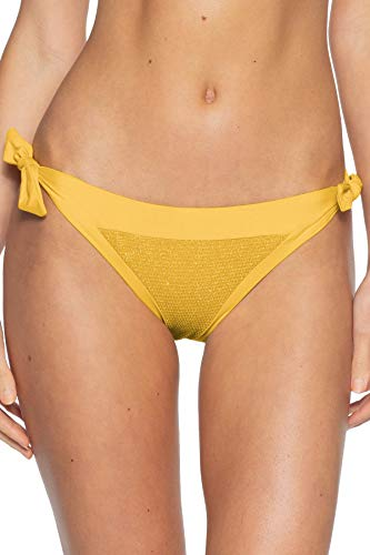 Becca by Rebecca Virtue Women's Tie Side Hipster Bikini Bottom Sunflower S ()