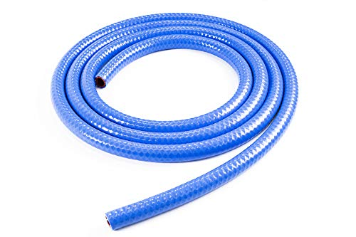 Bend Radius: 3 Max Working Pressure 70 psi HPS 3//4 ID Clear high temp reinforced silicone heater hose 10 feet roll Max Temperature Rating: 350F