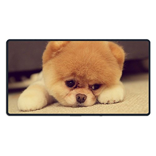 Large Cute Brown Puppy Dog Pomeranian Gaming Mouse Pad Custom Design Mouse Mat Extended XXL Size for Desk,Laptop,Keyboard & More