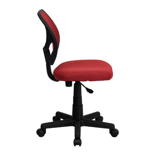 StarSun Depot Mid-Back Red Mesh Swivel Task Chair 21.5'' W x 22.5'' D x 30.5'' - 34.5'' H