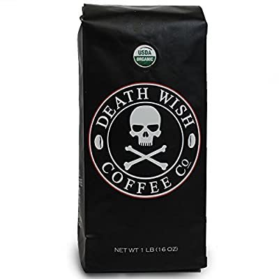 Death Wish Coffee, The World's Strongest Ground Coffee Beans, Fair Trade and Organic, from Death Wish Coffee