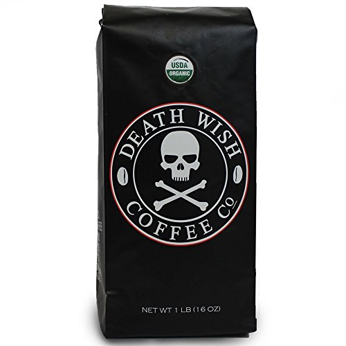 Death Wish Coffee, The World's Strongest Ground Coffee Beans, Fair Trade and Organic- Mega Size Package -32-oz