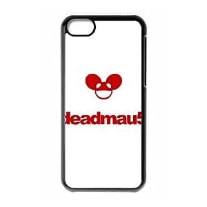 Deadmau5 Logo 10,211 Funda iPhone 5C Funda caja del teléfono celular Negro B7S3JXMM cajas del teléfono Poetic
