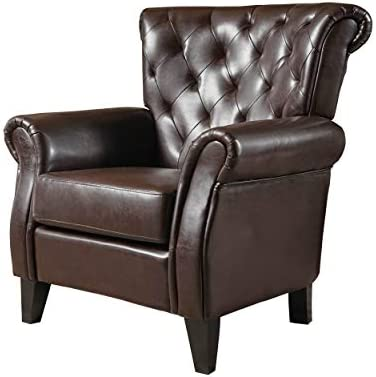 Christopher Knight Home Greggory Leather Club Chair