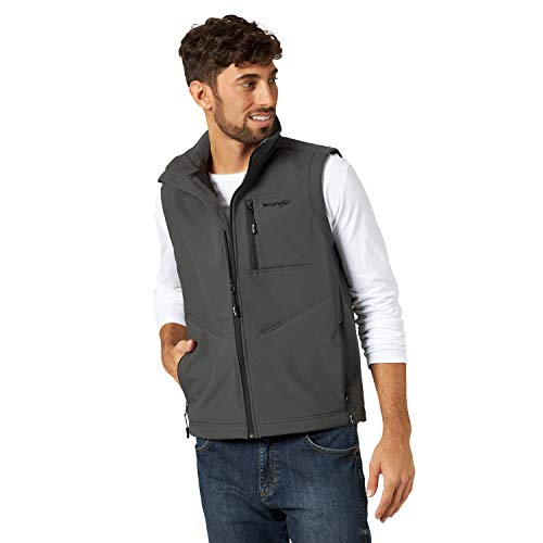 Wrangler Men's Concealed Carry Stretch Trail Vest, Charcoal, XLT