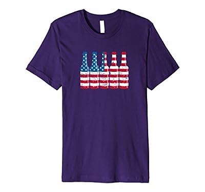 Premium Patriotic Beer Bottle American Flag Shirt