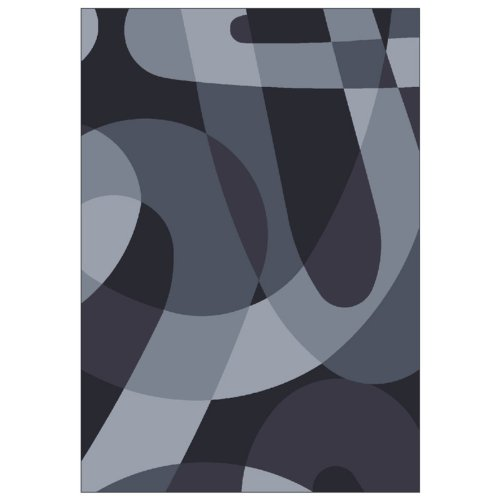 Milliken Modern Times Element Area Rug - Ebony Size - 3.10 x 5.4 ft.
