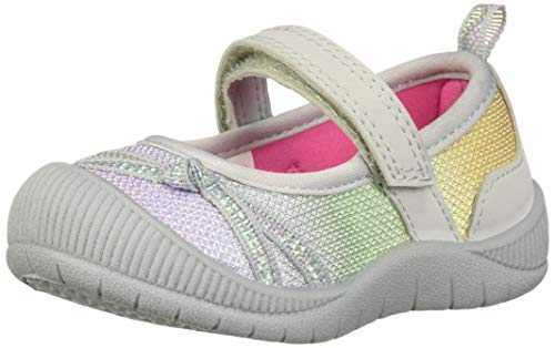 OshKosh B'Gosh Blyss Girl's Athletics Mary Jane Flat, Rainbow, 11 M US Toddler