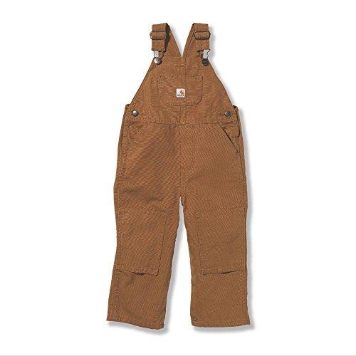 Carhartt Kid's CM8609 Washed Duck Bib Overall - Boys - 24 Months - Carhartt Brown