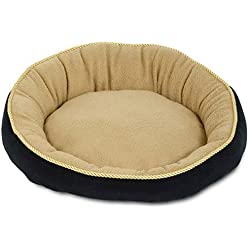 "Aspen Pet 18"" Round Bed With Eliptical Bolster Assorted Colors"