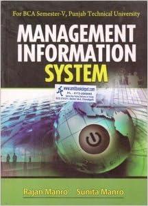 Management Information System 5th Sem  BCA PTU: Manro Sunita