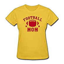 SHUIWU FOOTBALL MOM STAR Tee Shirts For Womens XL Yellow