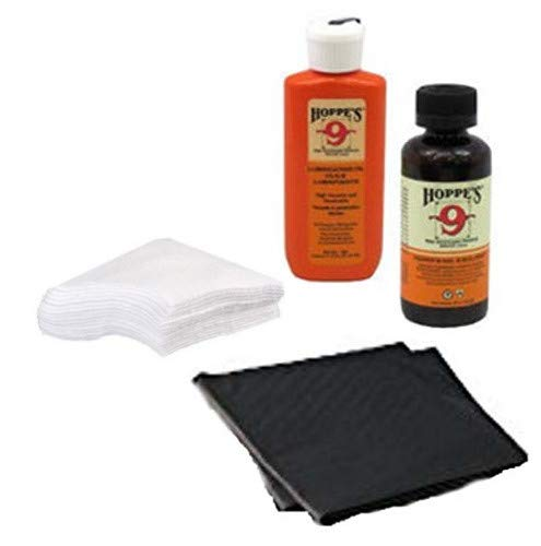 Westlake Market Gun Bore Cleaner and Lubricating Oil with Patches and Disposable Absorbent Mat/Pads (2) for Cleaning Handguns/Pistols/Rifles