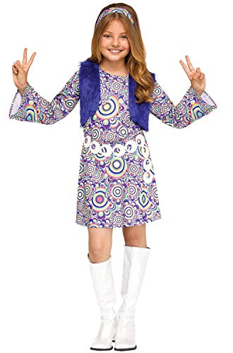 (Fun World Shaggy Chic Blue Costume, Medium 8-10,)