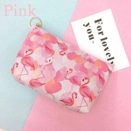 New Toiletry Holders Cosmetic Makeup Pouch Flamingo Print Bags Organizer Wallets (Color - Pink)