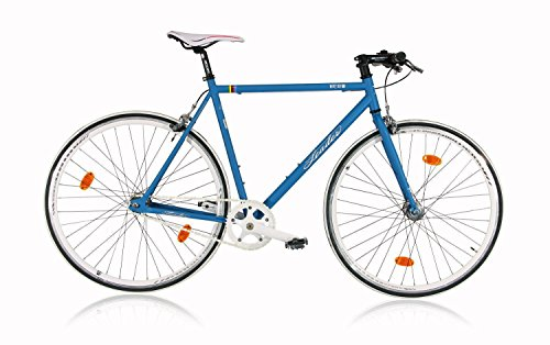 Leader FF1 28 Zoll Singlespeed/Fixie Blau Matt (2016), 53