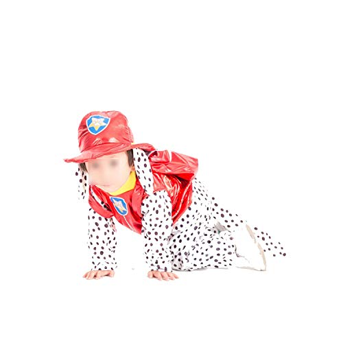 Halloween Party CCostume Kids Patrol Dog Cartoon Clothes,Marshall,L ()