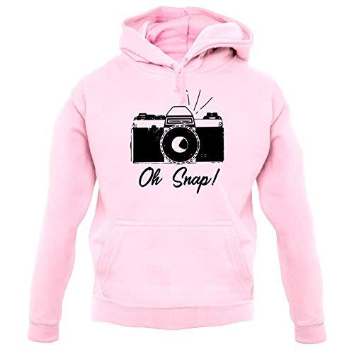 Oh Snap - Unisex Hoodie - Baby Pink - XS (Canon Lens Hoodie)