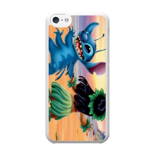 Coque,Coque iphone 5C Case Coque, Lilo And Stitch Cover For Coque iphone 5C Cell Phone Case Cover blanc