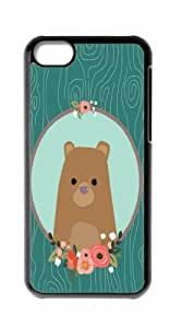 HeartCase Hard Case for Apple iPhone 5C ( Sketch Bear Animal Art )